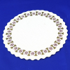 Waves Emboss Glassine Doilies w/ Sepia & Golden Pattern